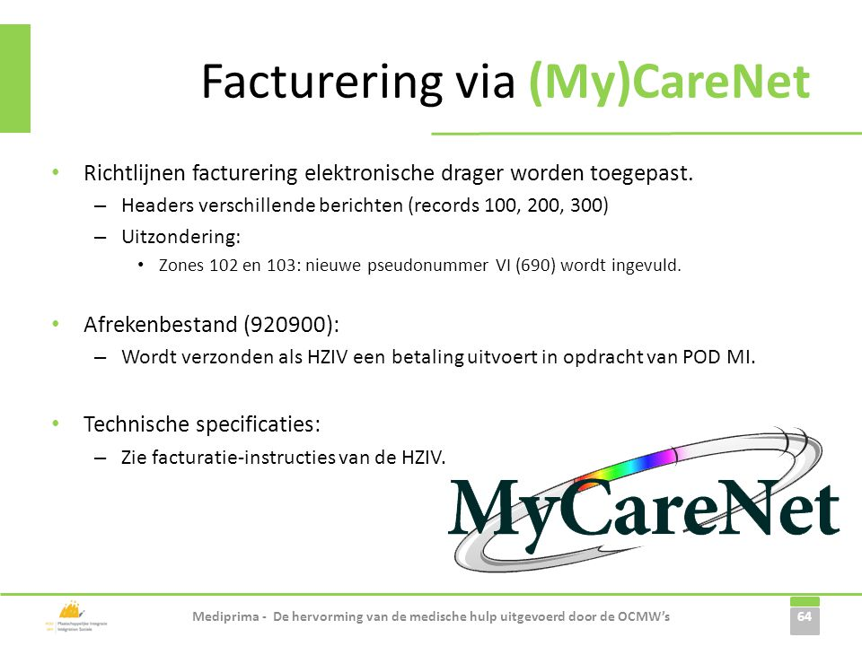 Facturering via (My)CareNet