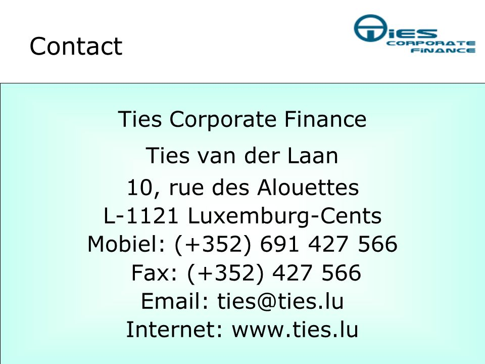 Ties Corporate Finance