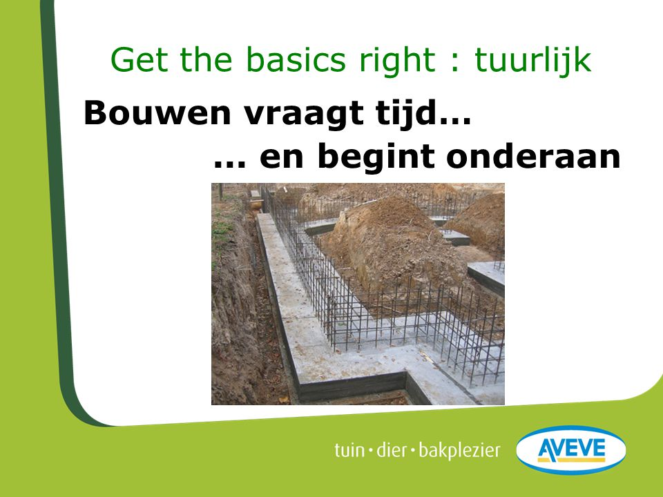 Get the basics right : tuurlijk