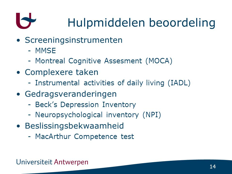 MMSE - MOCA Mini-mental state examination Montreal Cognitive Assesment