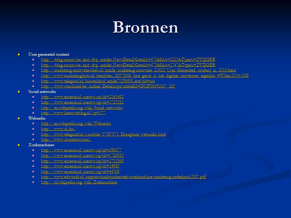 Bronnen User generated content
