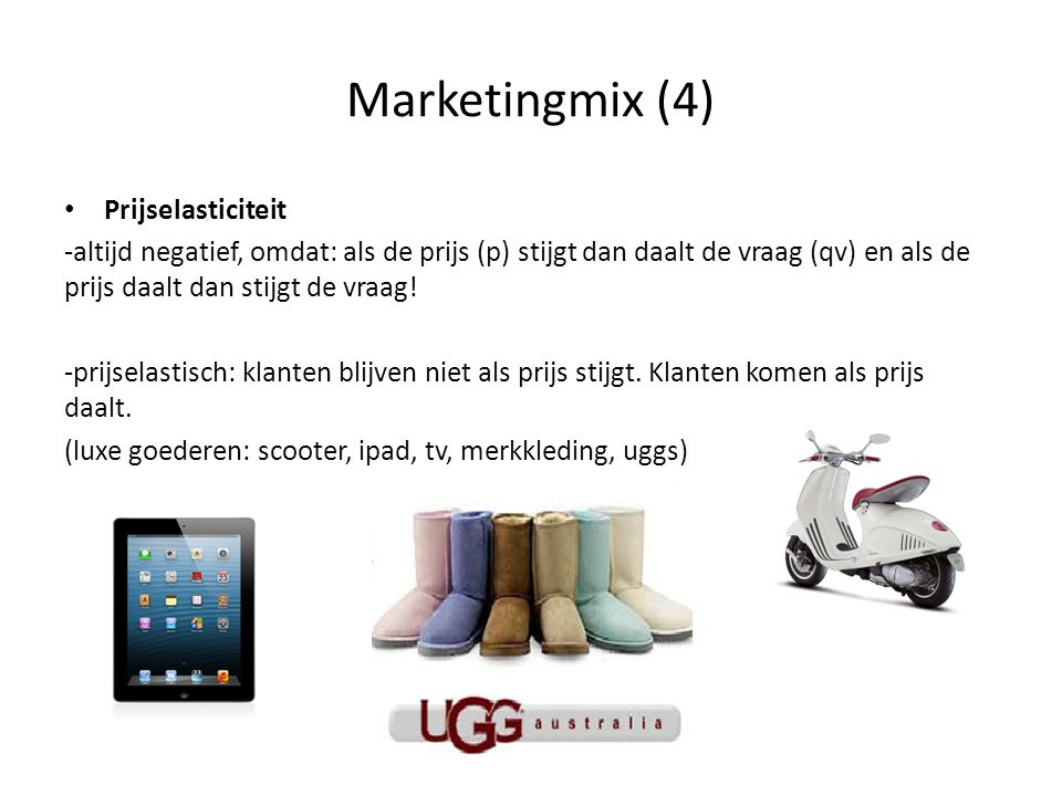 Marketingmix (4) Prijselasticiteit