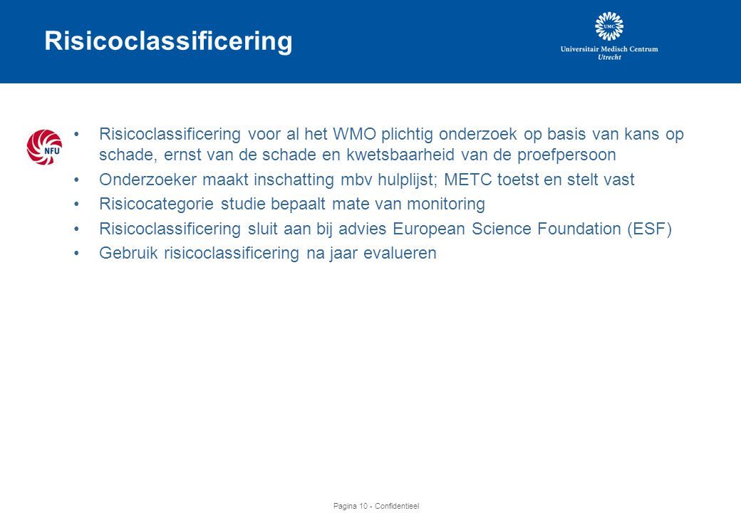 Risicoclassificering