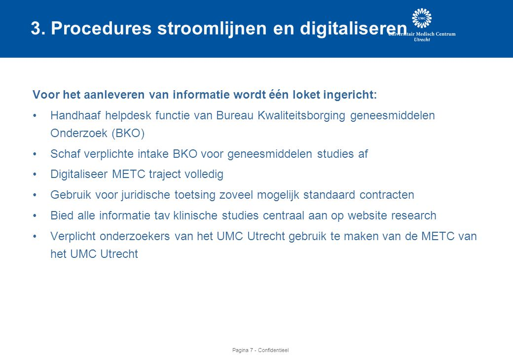 3. Procedures stroomlijnen en digitaliseren