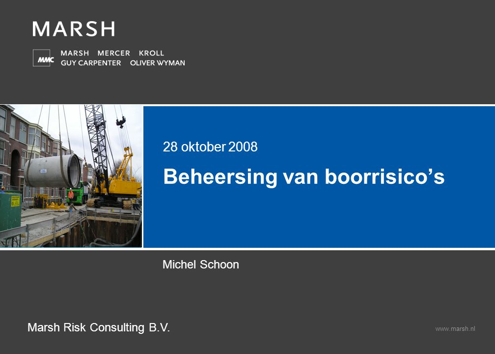 Beheersing van boorrisico's Construction Risk Consulting