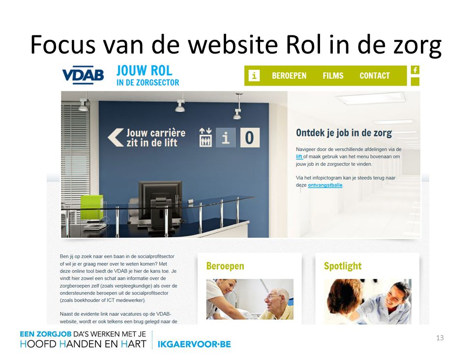 Focus van de website Rol in de zorg