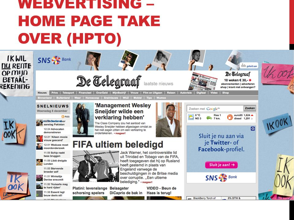 WEBVERTISING – HOME PAGE TAKE OVER (HPTO)