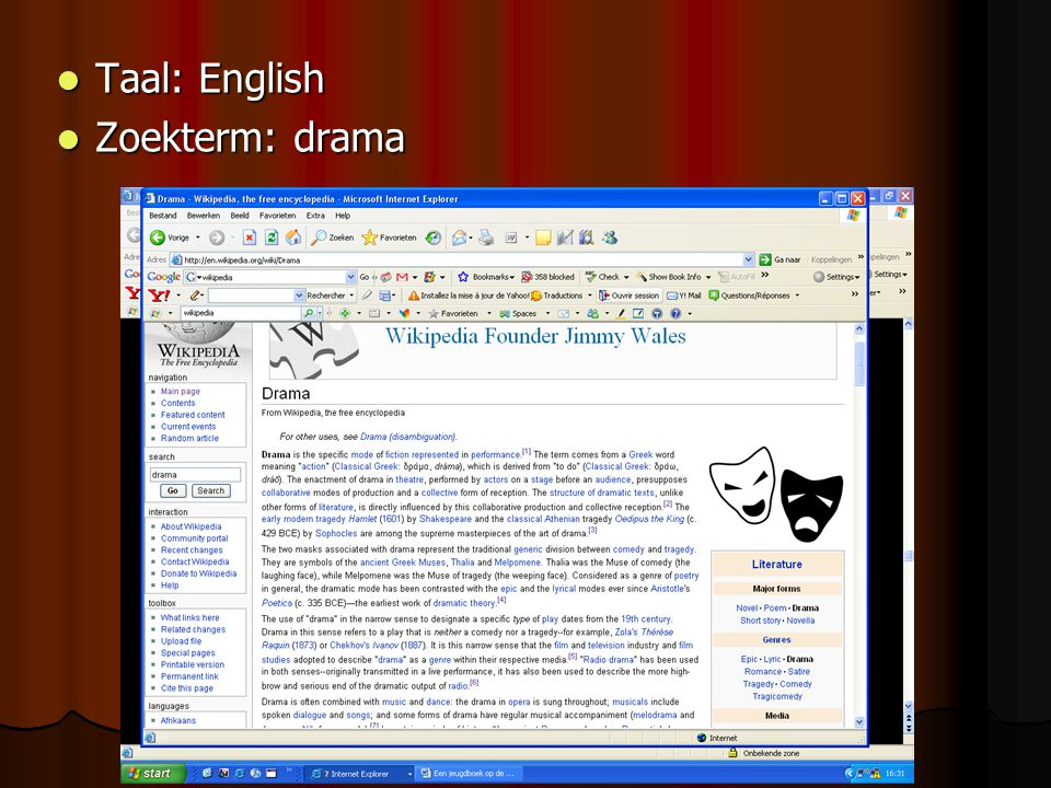 Taal: English Zoekterm: drama
