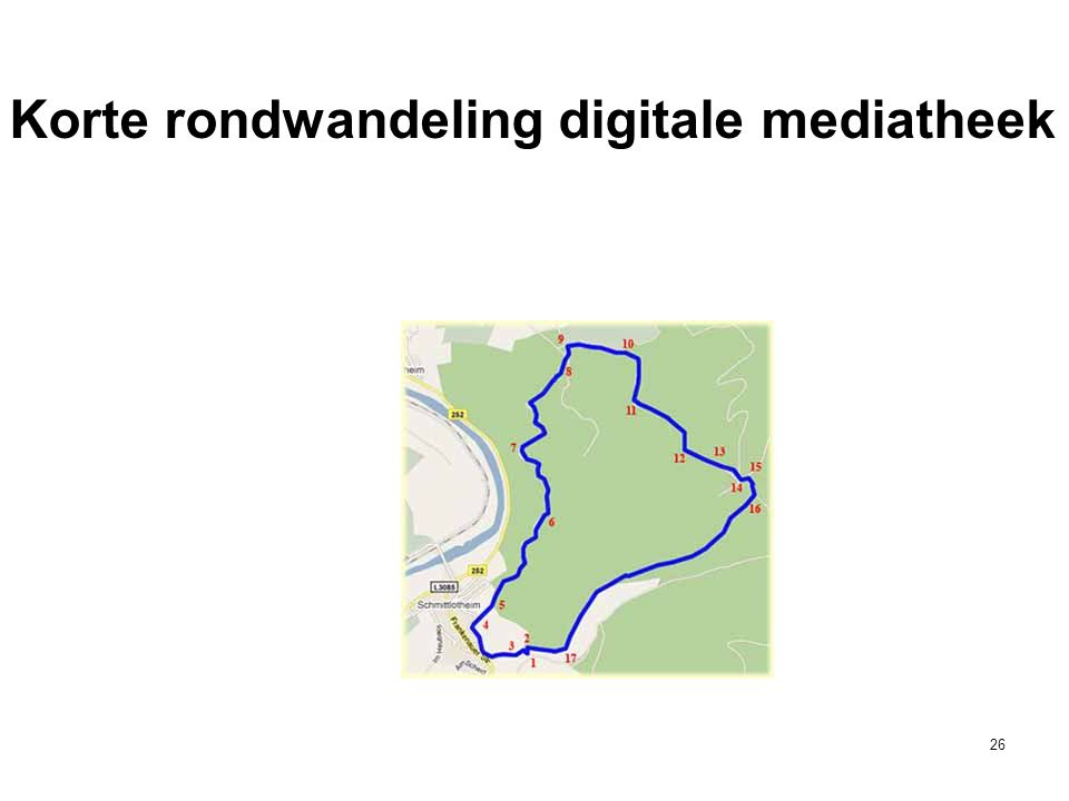 Korte rondwandeling digitale mediatheek