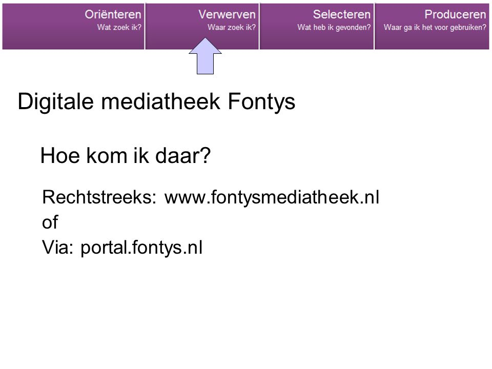Digitale mediatheek Fontys