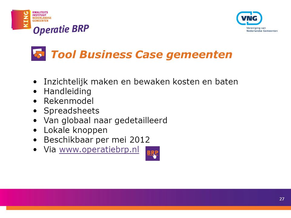Tool Business Case gemeenten
