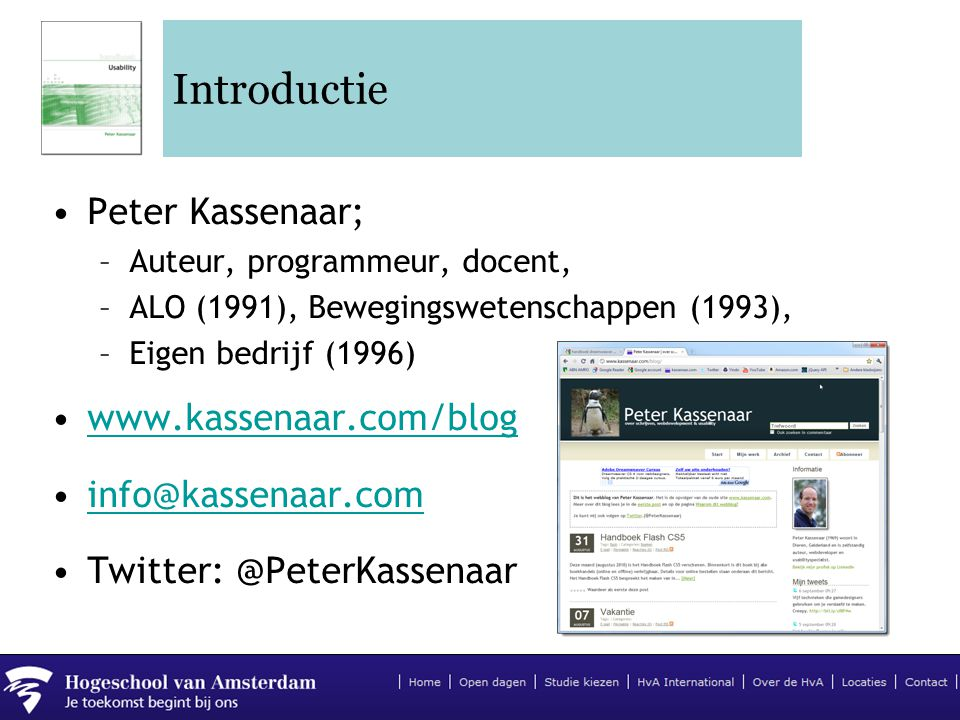 Introductie Peter Kassenaar;