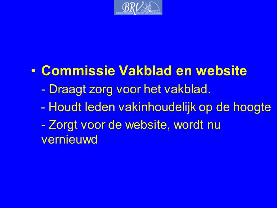 Commissie Vakblad en website