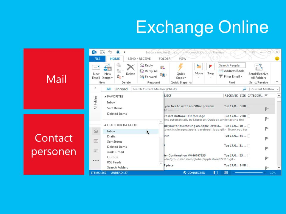 Exchange Online Mail Contact personen