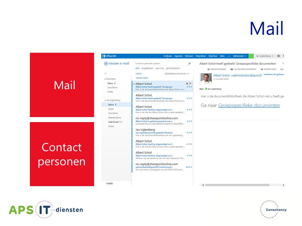 Mail Mail Contact personen