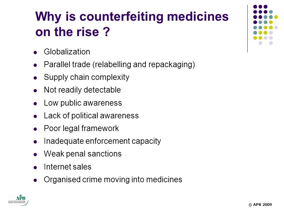 Why is counterfeiting medicines on the rise