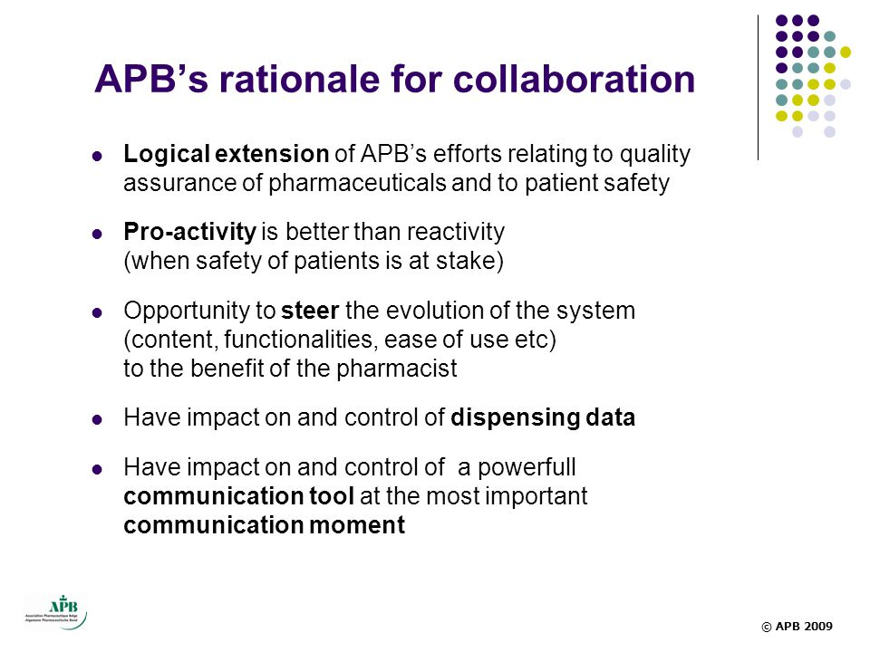 APB's rationale for collaboration