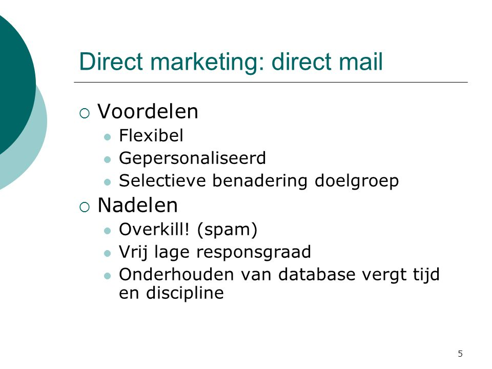 Direct marketing: direct mail