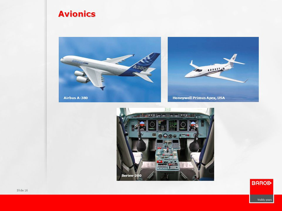 Avionics Pictures Typical PACS environment Surgical displays