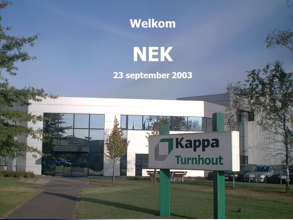 Welkom NEK 23 september 2003