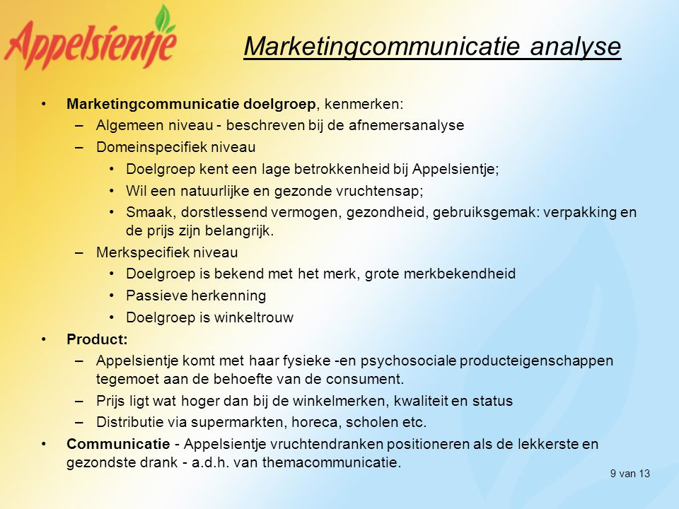 Marketingcommunicatie analyse