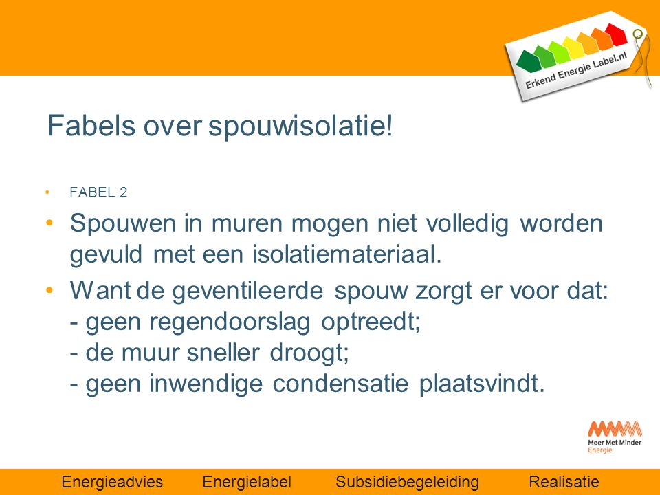 Fabels over spouwisolatie!