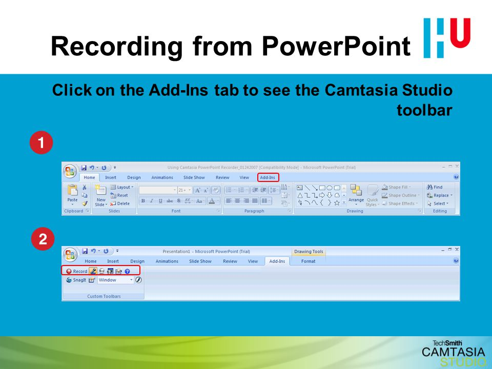 Recording from PowerPoint