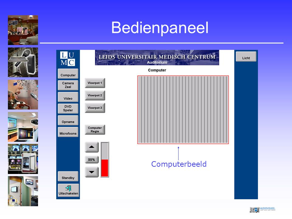 Bedienpaneel Computerbeeld