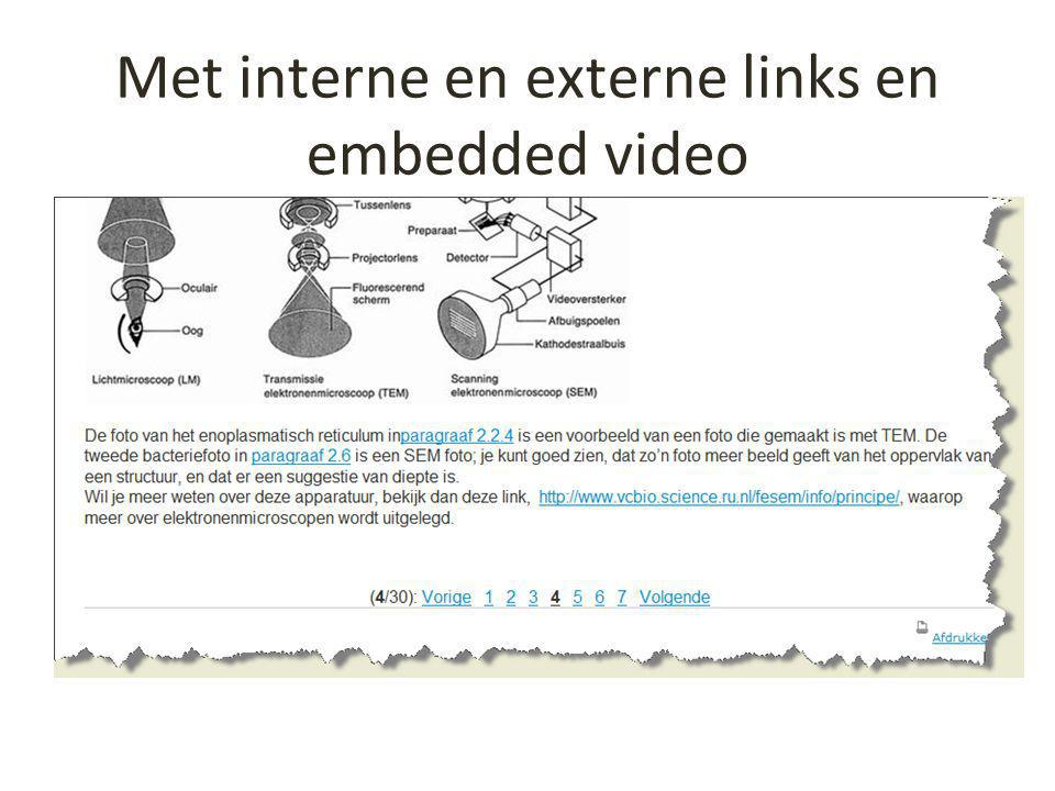 Met interne en externe links en embedded video
