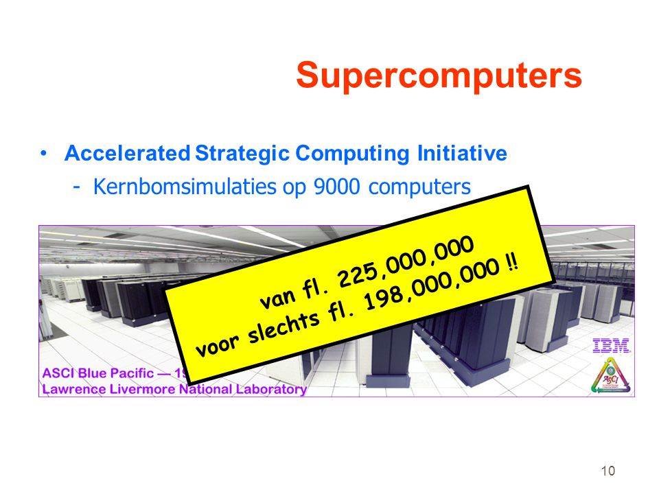 Supercomputers Accelerated Strategic Computing Initiative