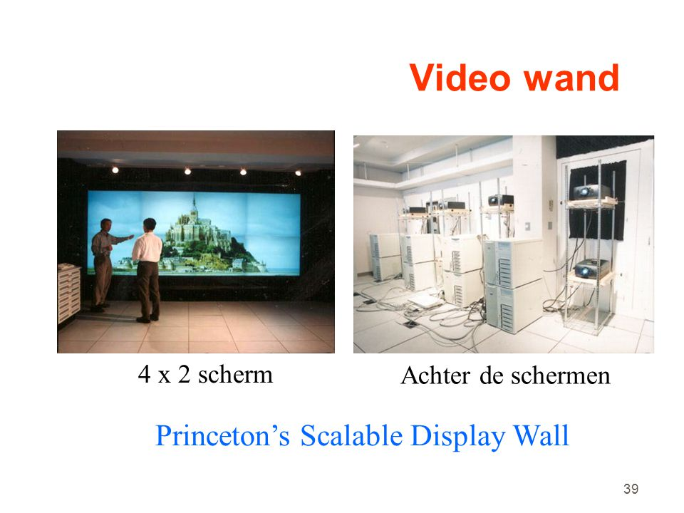 Video wand Princeton's Scalable Display Wall 4 x 2 scherm