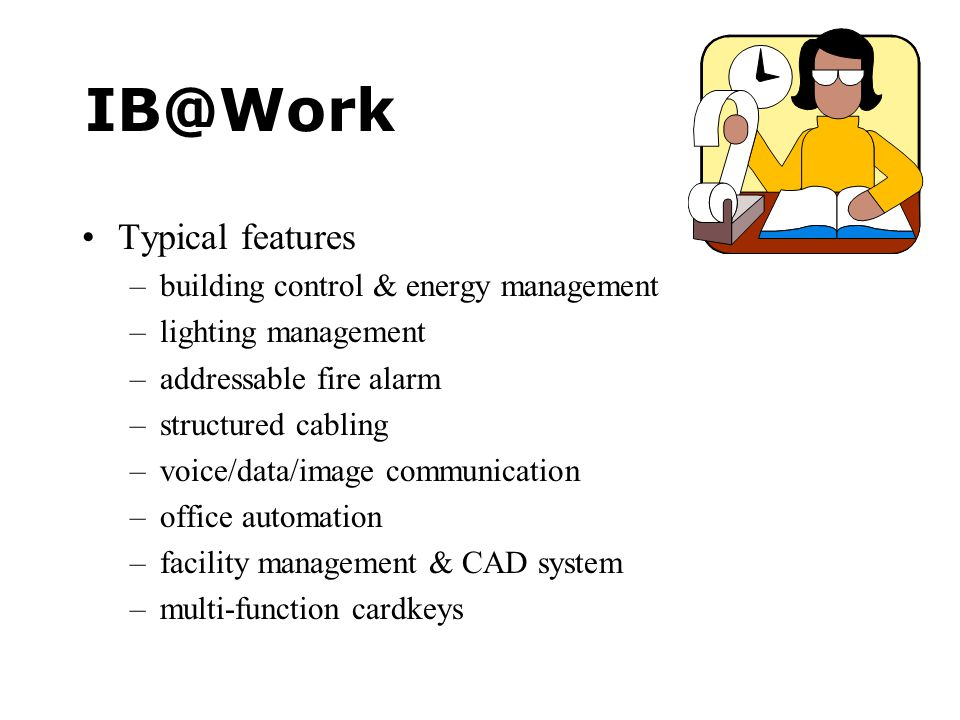 IB@Work Typical features building control & energy management
