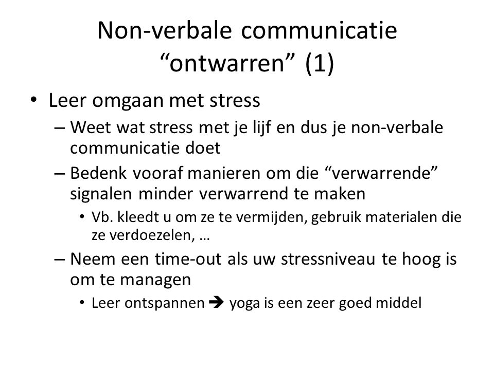 Non-verbale communicatie ontwarren (1)