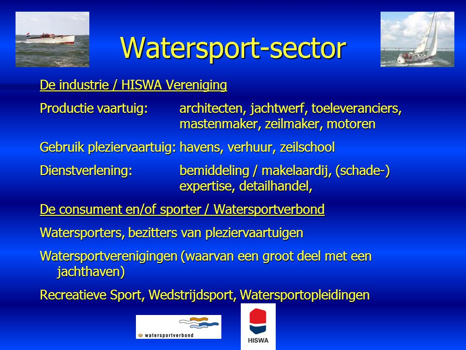 Watersport-sector De industrie / HISWA Vereniging