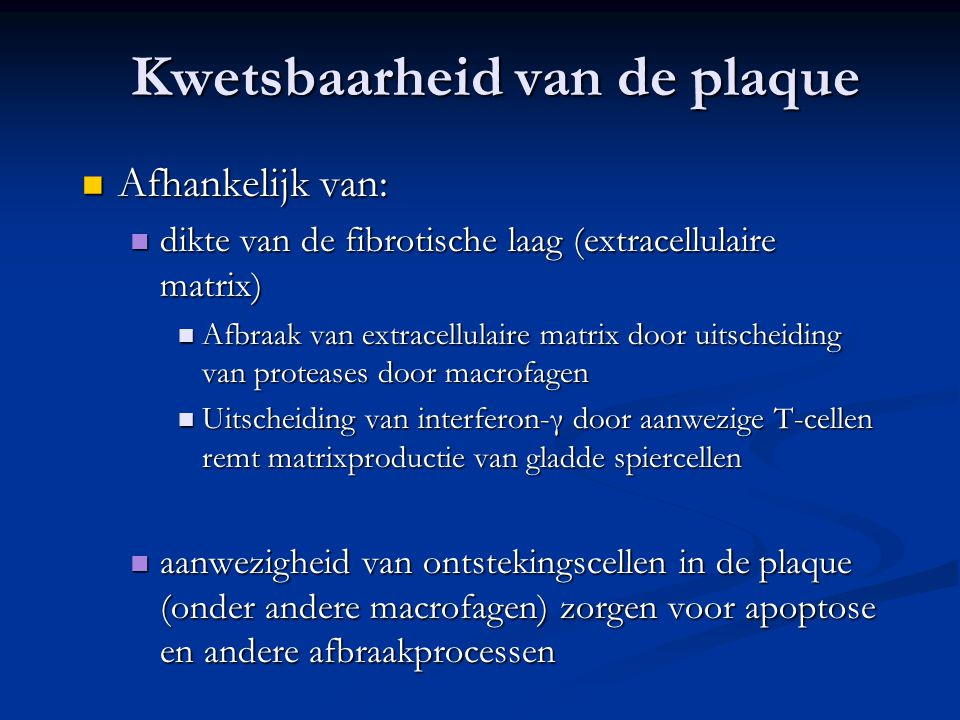 Kwetsbaarheid van de plaque