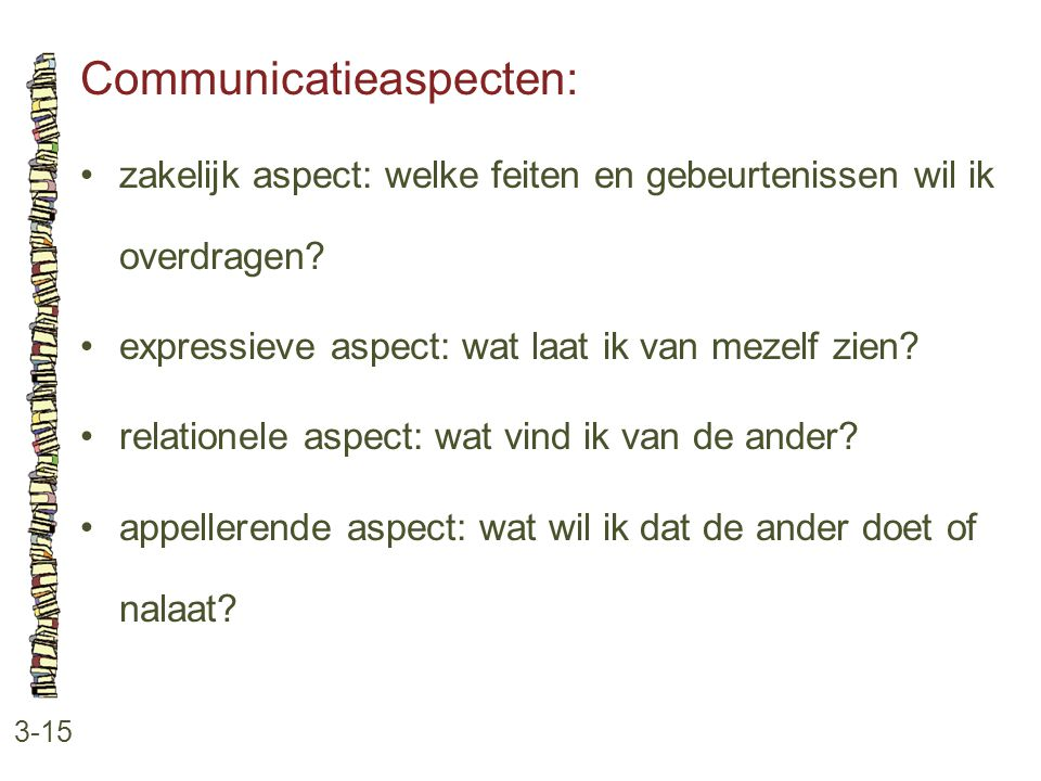 Communicatieaspecten: