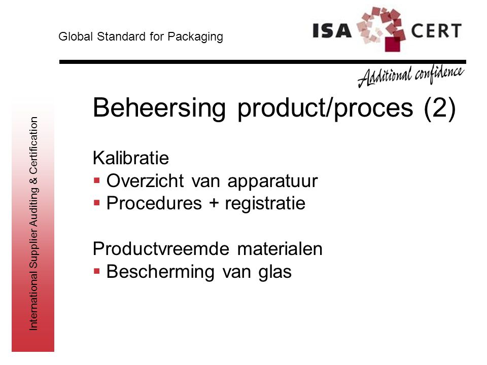 Beheersing product/proces (2)