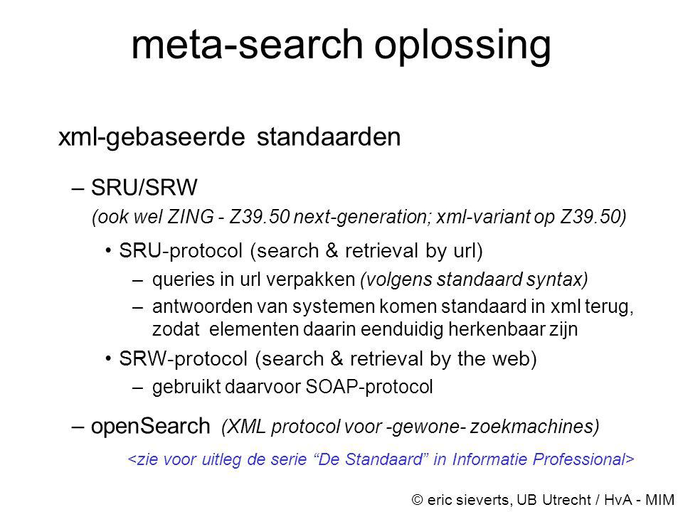 meta-search oplossing