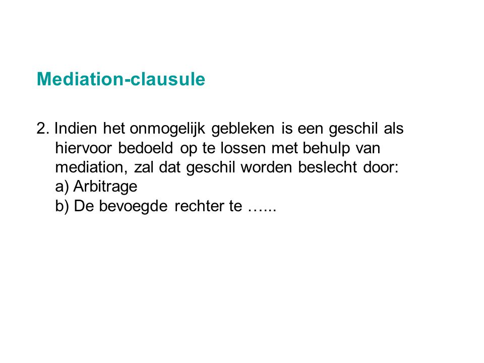Mediation-clausule