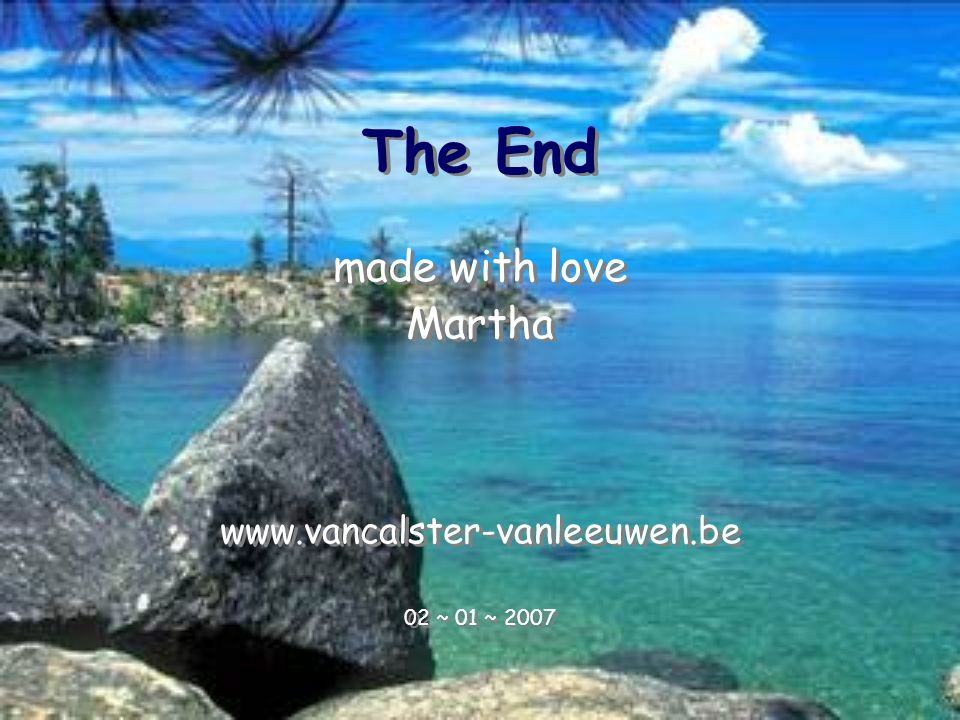 The End made with love Martha www.vancalster-vanleeuwen.be