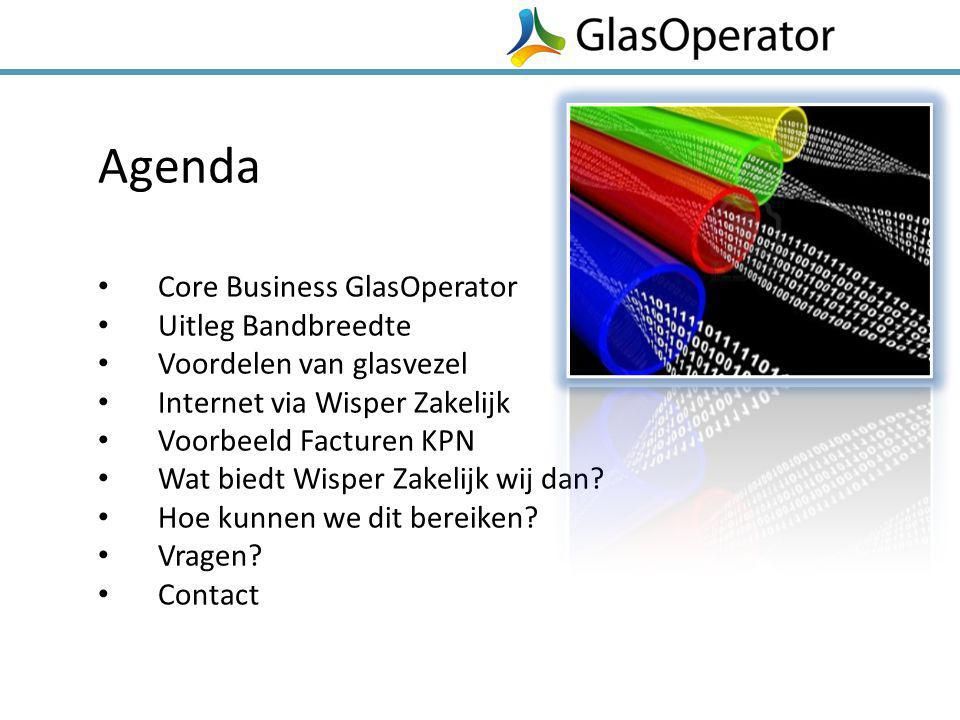 Agenda Core Business GlasOperator Uitleg Bandbreedte