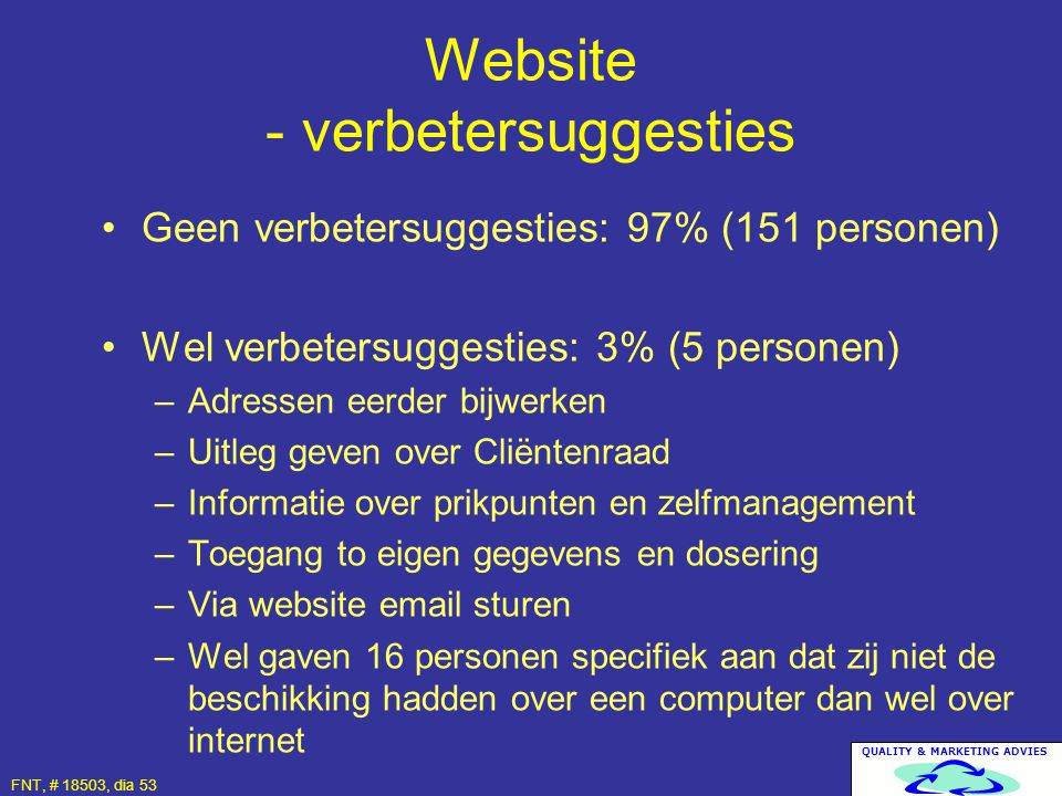 Website - verbetersuggesties
