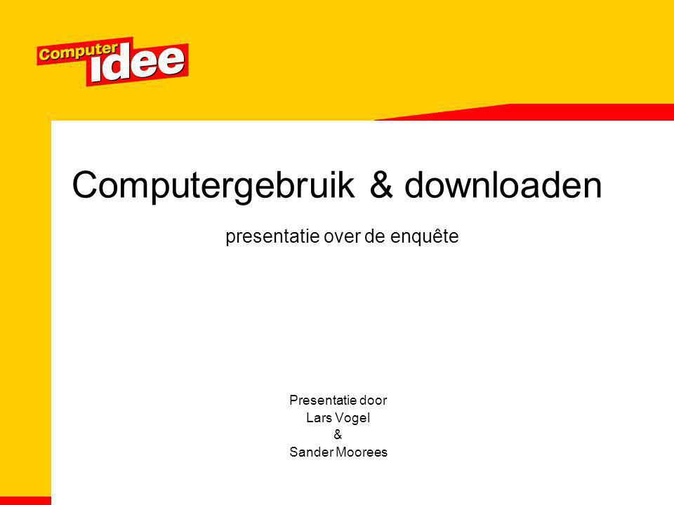 Computergebruik & downloaden presentatie over de enquête