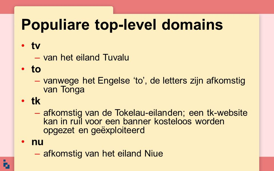 Populiare top-level domains