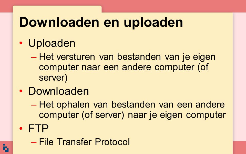 Downloaden en uploaden