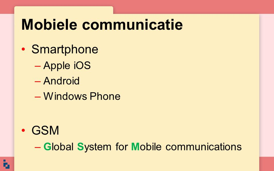 Mobiele communicatie Smartphone GSM Apple iOS Android Windows Phone