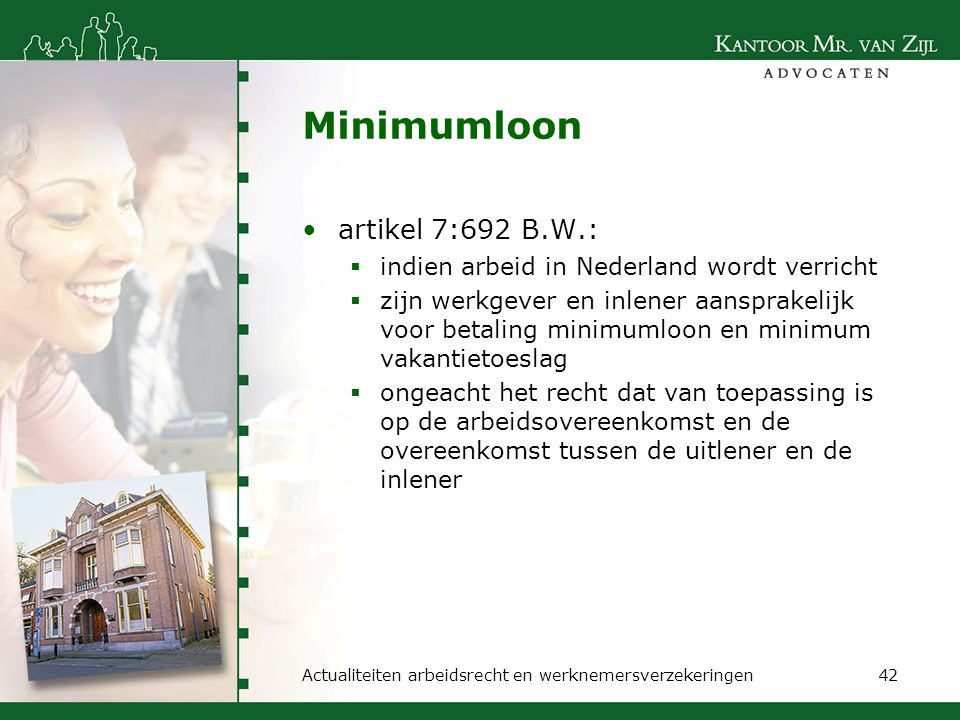Minimumloon artikel 7:692 B.W.:
