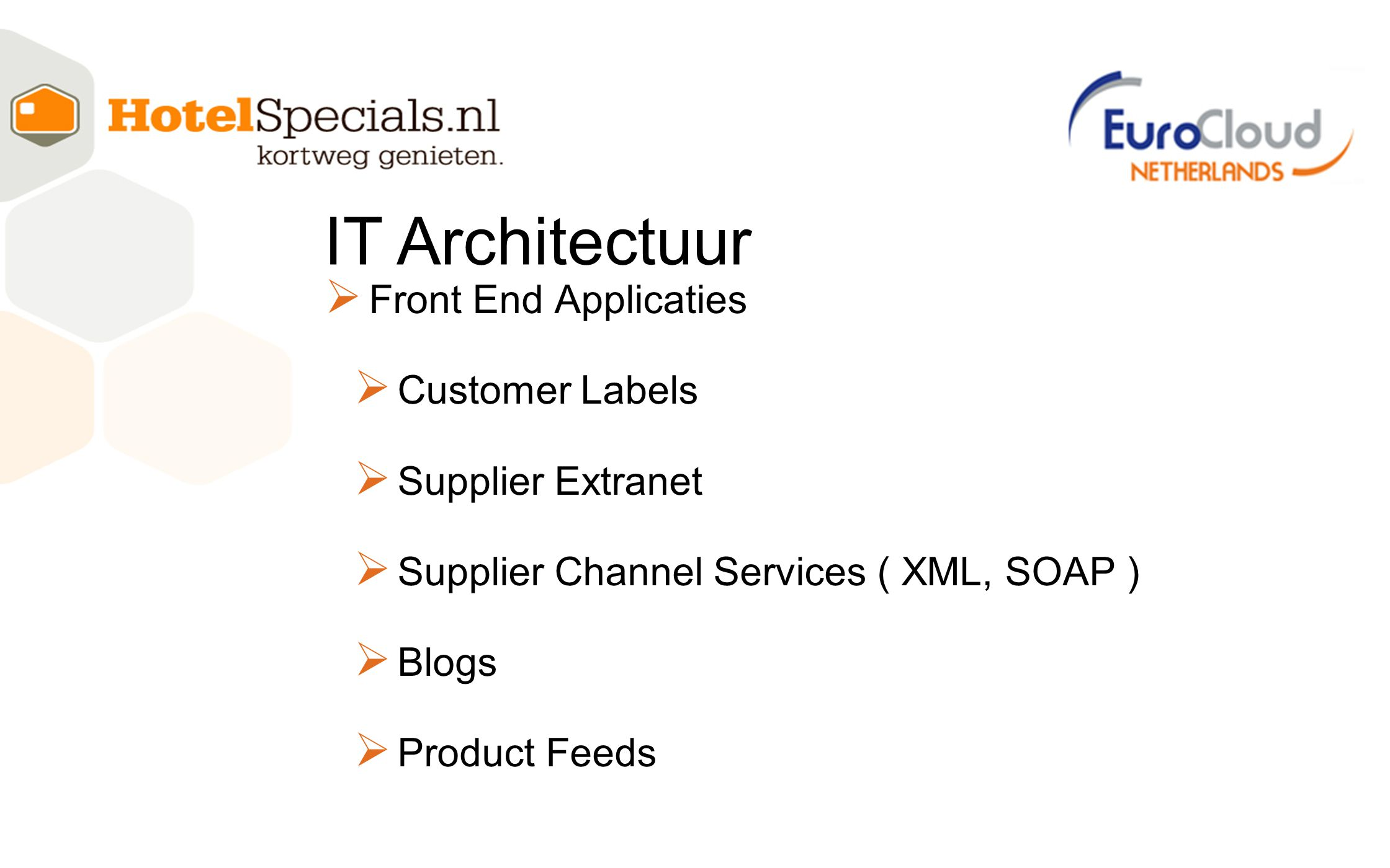IT Architectuur Front End Applicaties Customer Labels