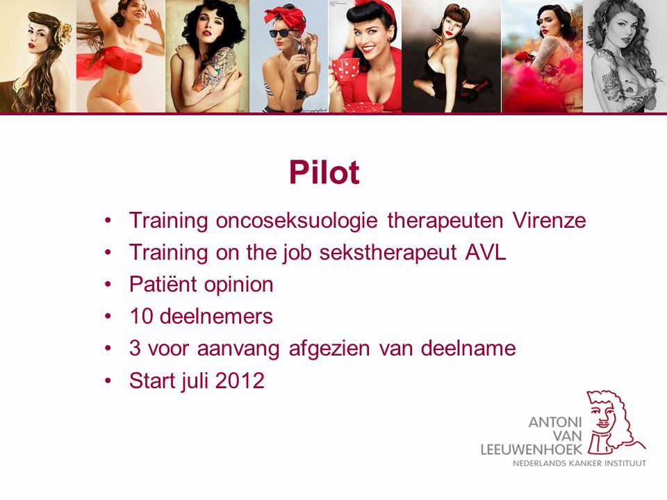 Pilot Training oncoseksuologie therapeuten Virenze