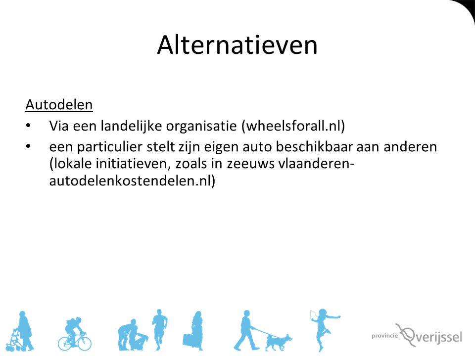 Alternatieven Autodelen